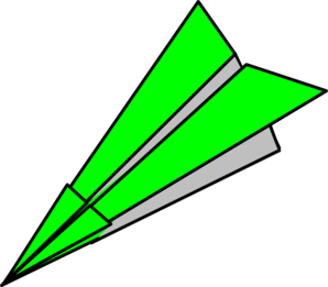 Clipart paper plane picture freeuse library Green Paper Plane Clip Art at Clker.com - vector clip art online ... picture freeuse library