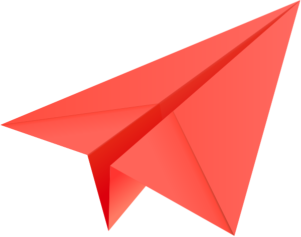 Paper airplane clipart with color - ClipartFest stock