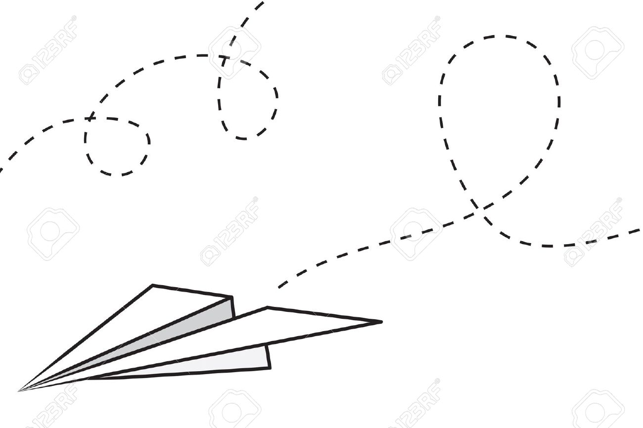 Clipart paper plane clip art freeuse library Flying paper airplane clipart - ClipartFest clip art freeuse library