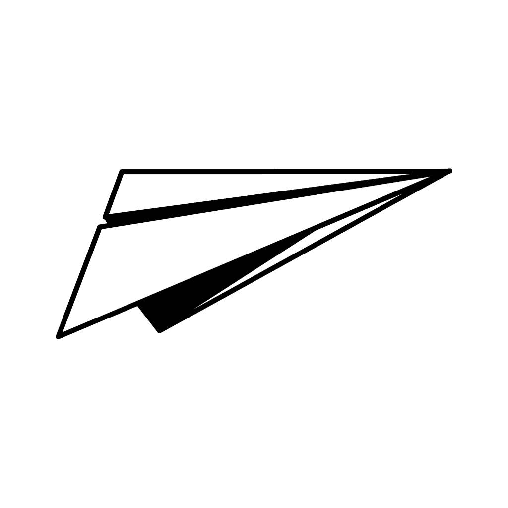 Paper Airplane Clipart - Clipart Kid graphic black and white download