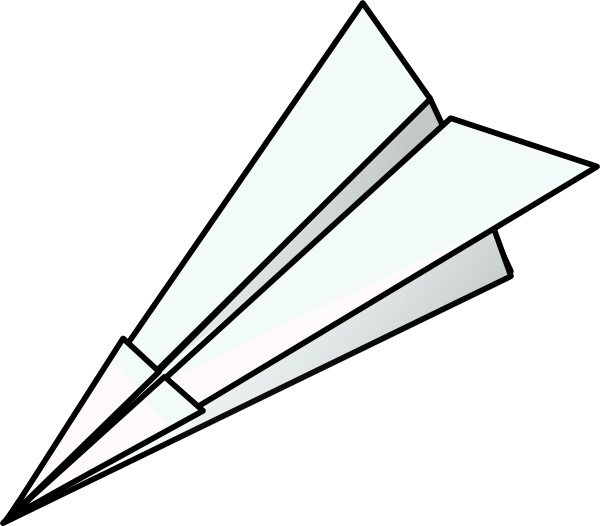 Clipart paper plane vector free library Toy Paper Plane clip art Free vector in Open office drawing svg ... vector free library