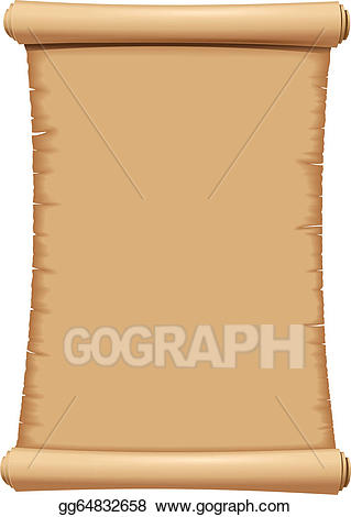 Clipart paper scroll royalty free stock Vector Art - Paper scroll. Clipart Drawing gg64832658 - GoGraph royalty free stock