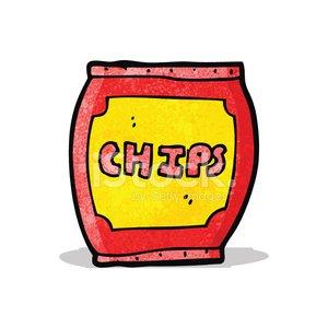 Clipart papitas picture black and white download Cartoon Potato Chips Bag premium clipart - ClipartLogo.com picture black and white download