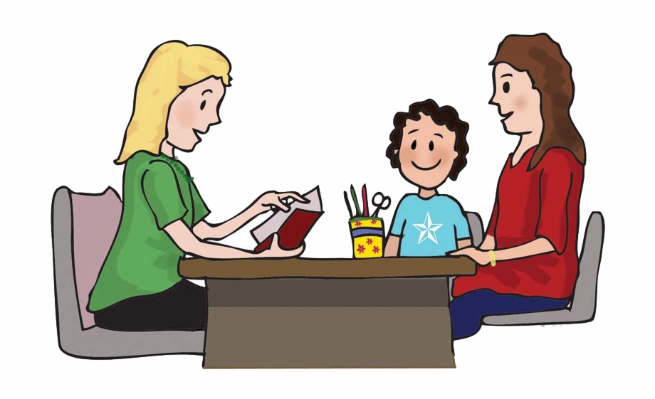 Teacher confernece clipart svg black and white Parents Teacher Meeting - Parent Teacher Conference, Transparent Png ... svg black and white