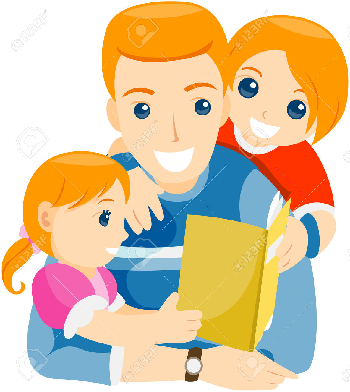 Clipart parent with kids library Parent reading to child clipart - ClipartFox library