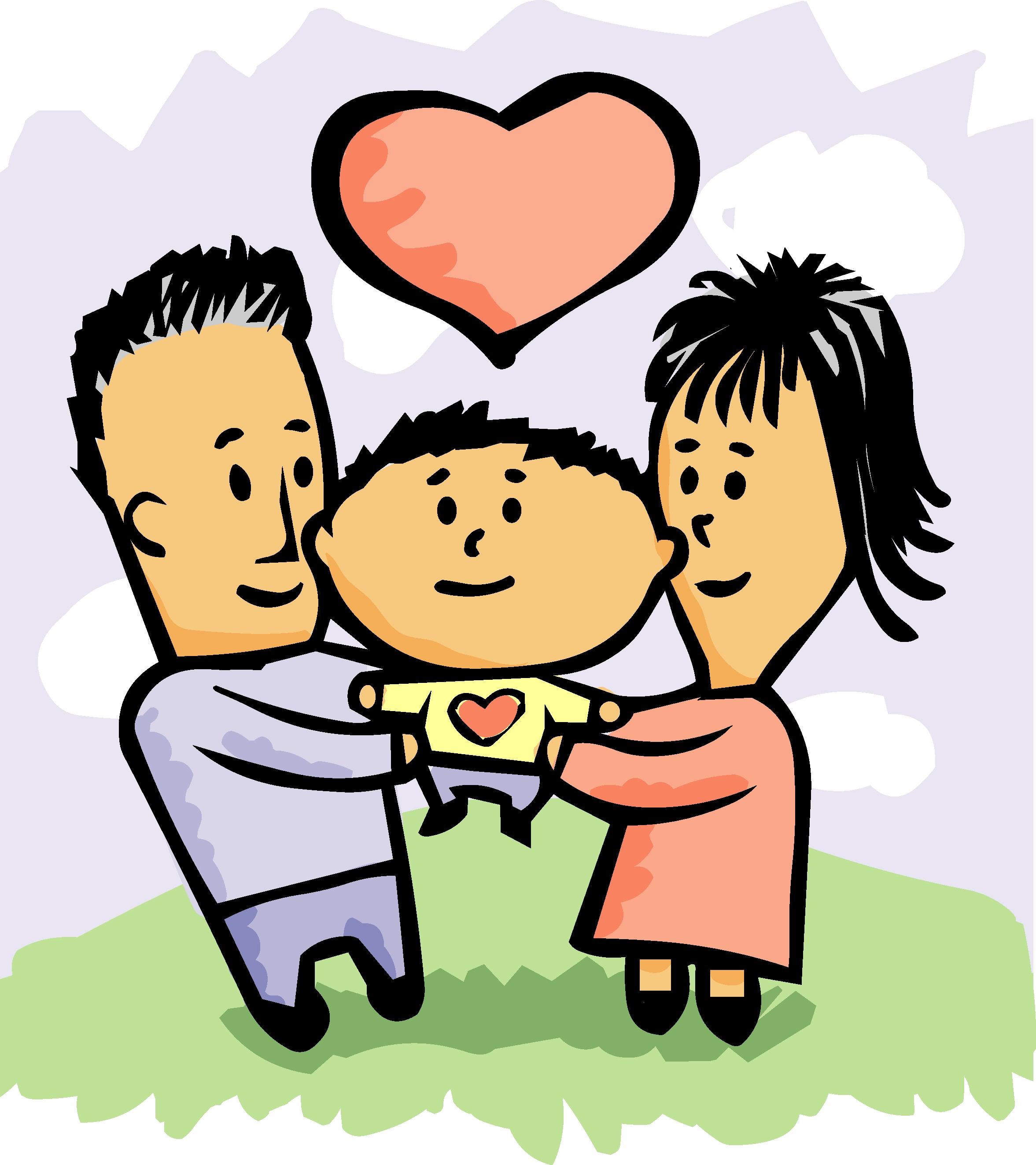 Clipart parent with kids image transparent library Clipart parent with kids - ClipartFest image transparent library