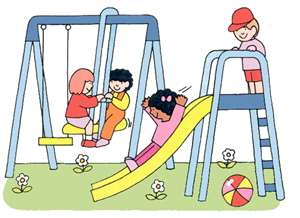 Public kid parks recreation. Clipart park