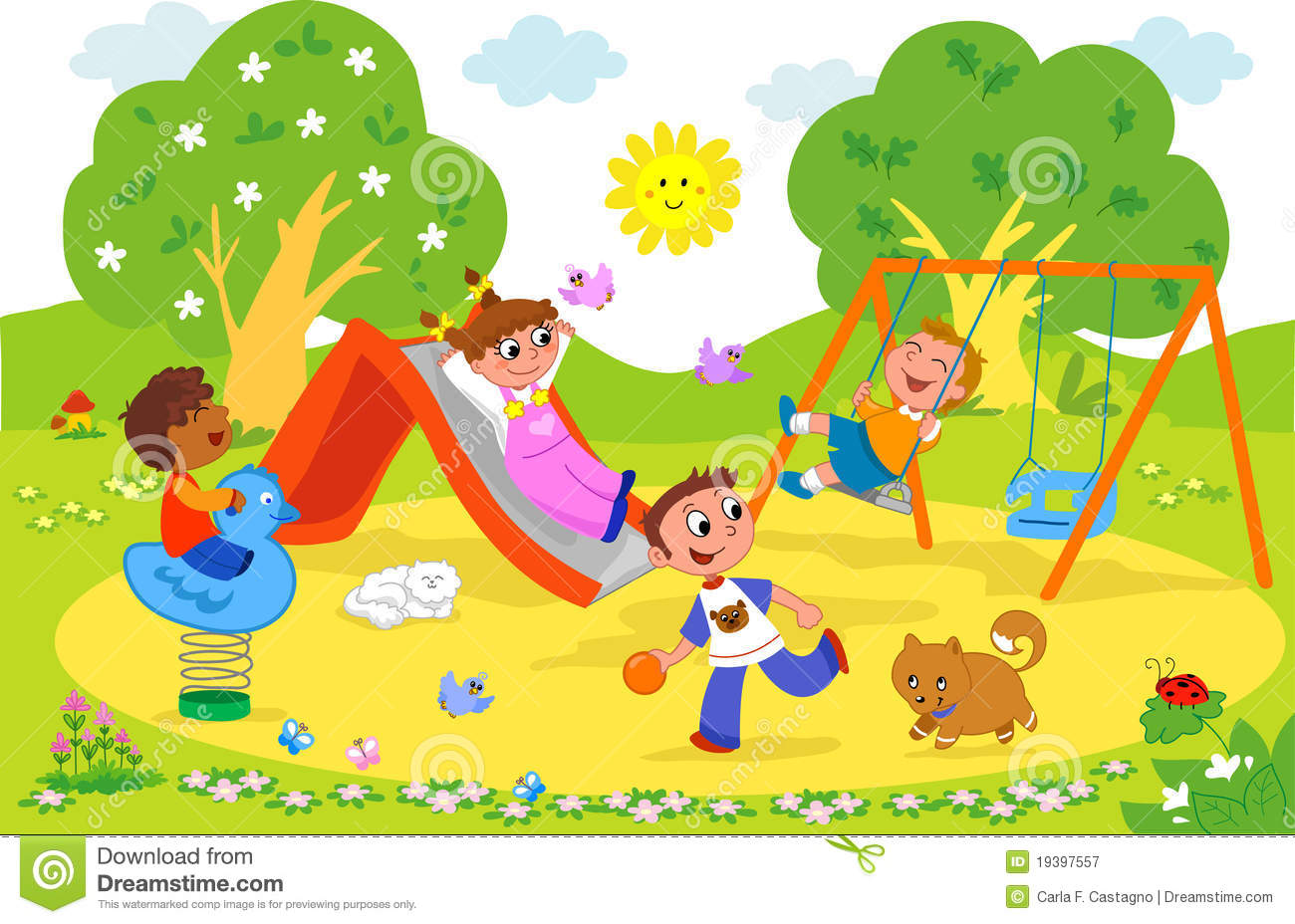 Clipart park vector library library Park Clipart - Clipart Kid vector library library
