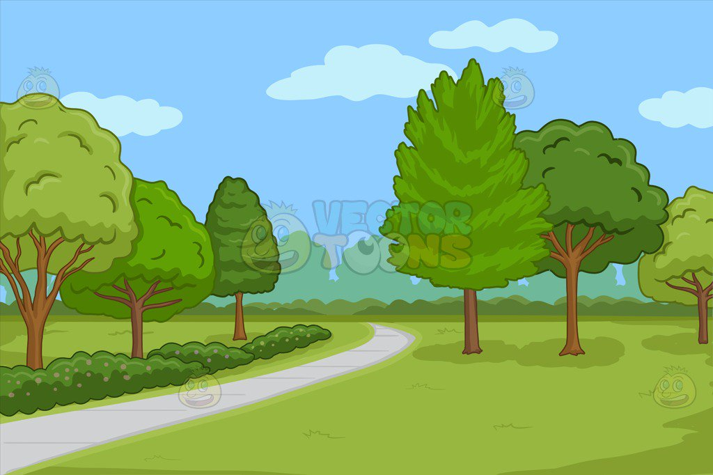 Walking path clipart clip library download Park background clipart 3 » Clipart Station clip library download