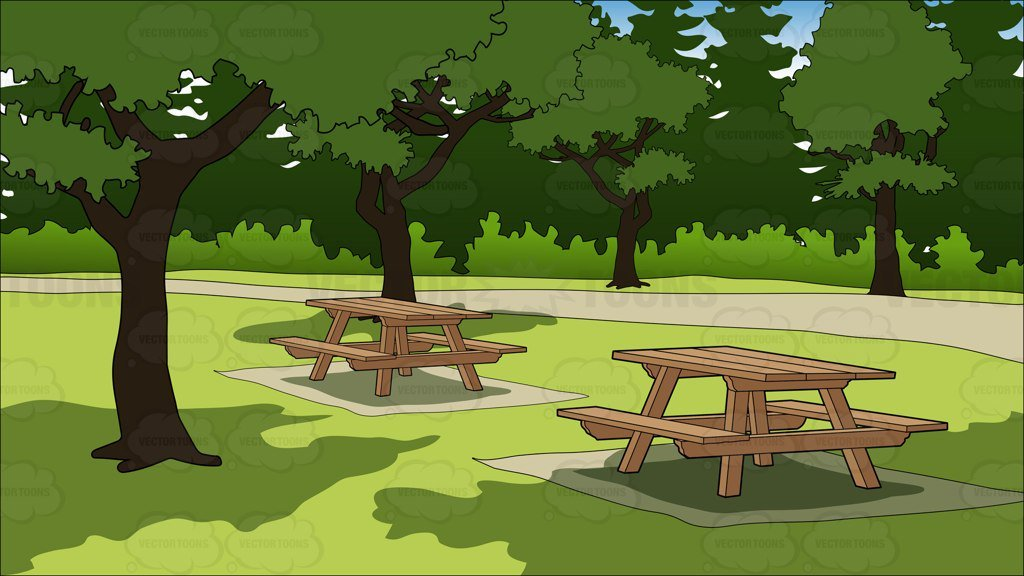 Clipart park background banner free library Picnic Tables In A Park Background banner free library