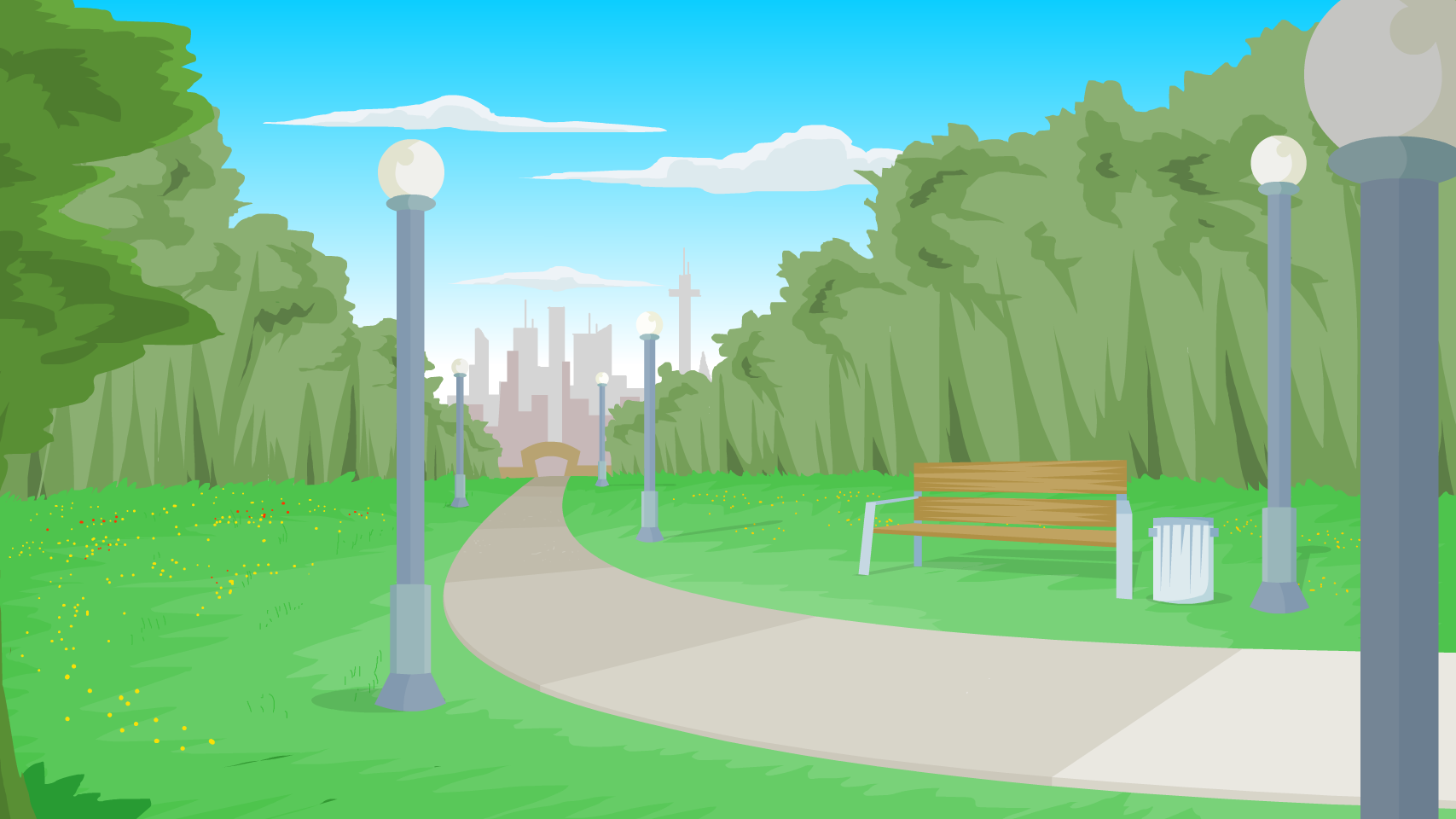 Clipart park background clipart black and white download Park Background by GordyH on Newgrounds clipart black and white download