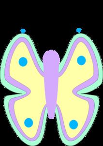 Clipart pastel picture transparent Butterfly Pastel Clip Art at Clker.com - vector clip art online ... picture transparent