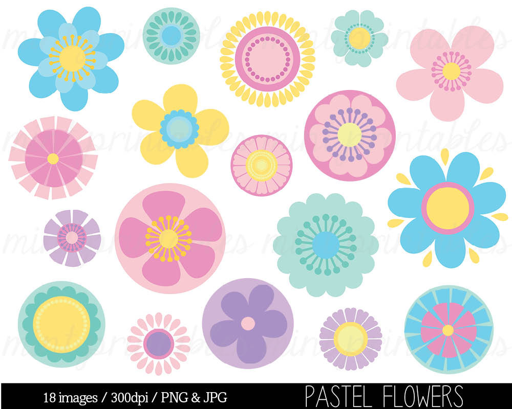 Clipart pastel png download Gif clipart images of pastel flowers - ClipartFest png download