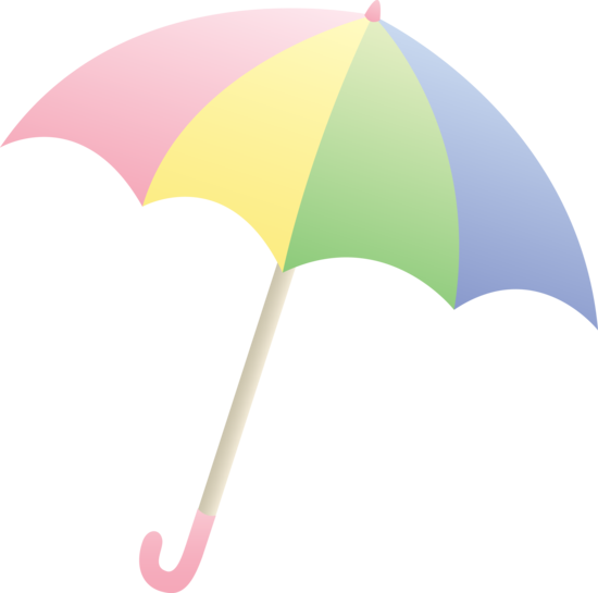 Clipart pastel jpg free library Pastel Colored Umbrella - Free Clip Art jpg free library