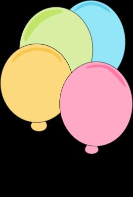 Pastel Balloons Clip Art - Pastel Balloons Image black and white