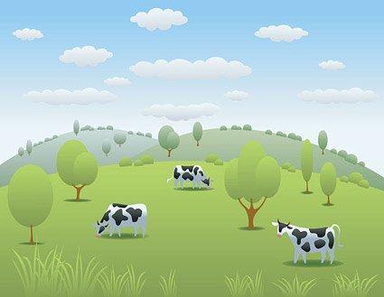 Clipart pasture