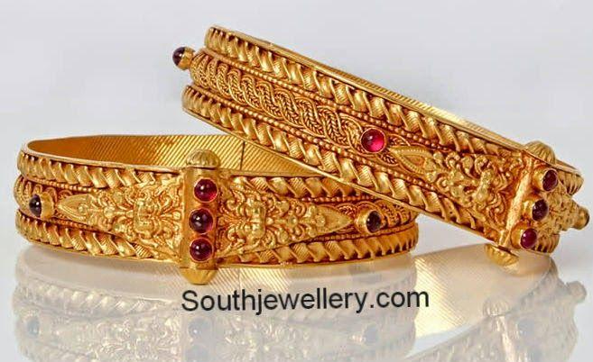 Clipart patli designs transparent Traditional Antique Gold Broad Bangles   jewellery   Gold bangles ... transparent