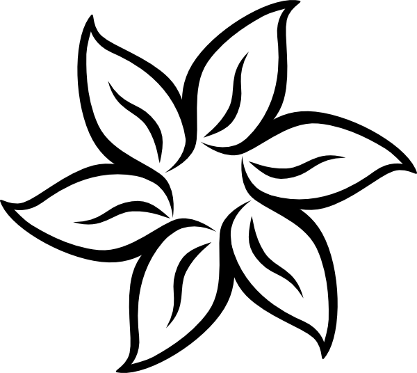 Flower petal clipart black and white png download Free Printable Stencil Patterns | ... Flower clip art - vector clip ... png download