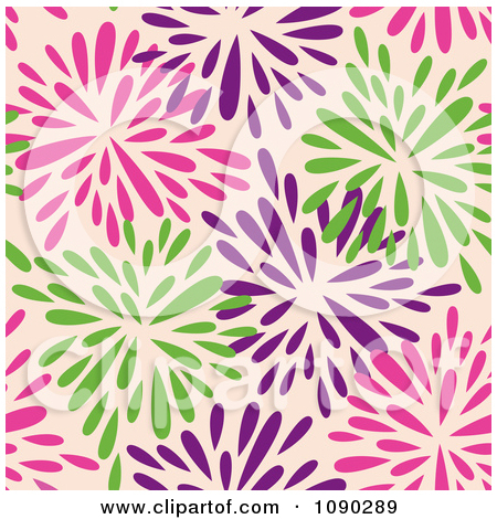 Clipart patterns free. Seamless purple floral pattern