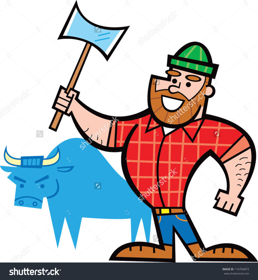 Clipart paul bunyan image black and white download Download easy to draw paul bunyan clipart Paul Bunyan & Babe the ... image black and white download