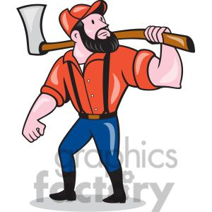 Clipart paul bunyan picture freeuse library paul bunyan holding an axe clipart. Royalty-free clipart # 394455 ... picture freeuse library