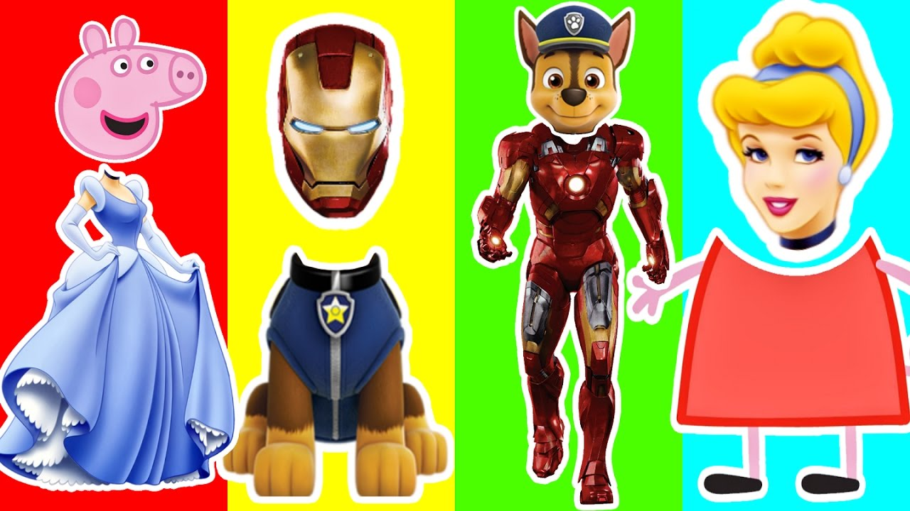 Clipart paw patrol disney princes banner royalty free download Wrong Heads Peppa Pig Paw Patrol Disney Princess Superheroes ... banner royalty free download
