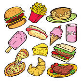 Clipart paying for food jpg stock Food Clip Art - Royalty Free - GoGraph jpg stock
