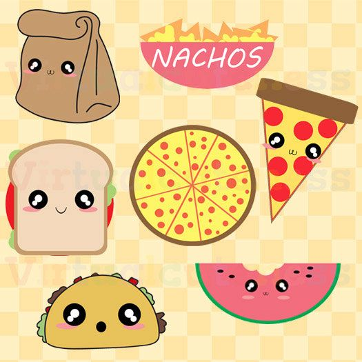 Clipart paying for food clip transparent download Cute Lunch Clipart - Food Clip Art, Pizza, Tacos, Nachos, Paper ... clip transparent download