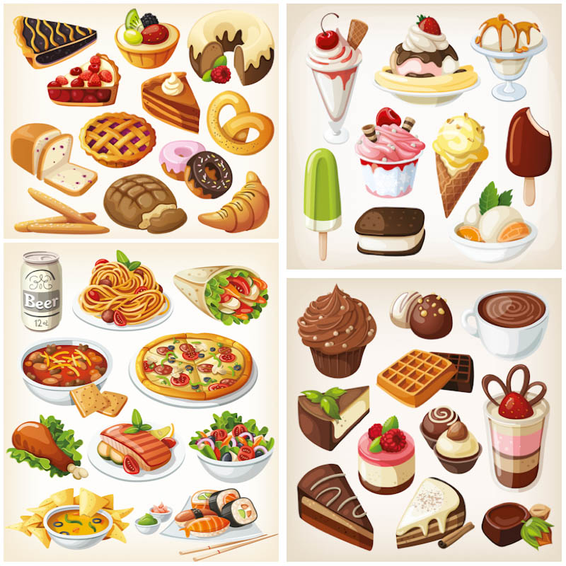 Clipart paying for food svg black and white download A collection of four beautiful vector food clip art sets with ... svg black and white download