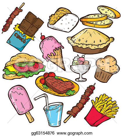 Clipart paying for food black and white stock Food Clip Art - Royalty Free - GoGraph black and white stock