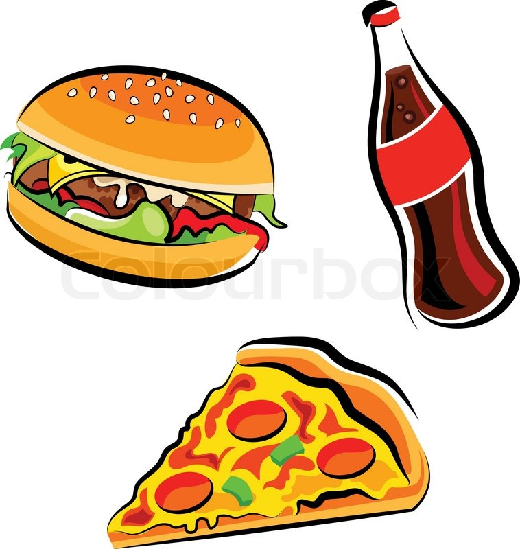 Clipart paying for food clip art royalty free download Fast food clipart | Stock Vector | Colourbox clip art royalty free download