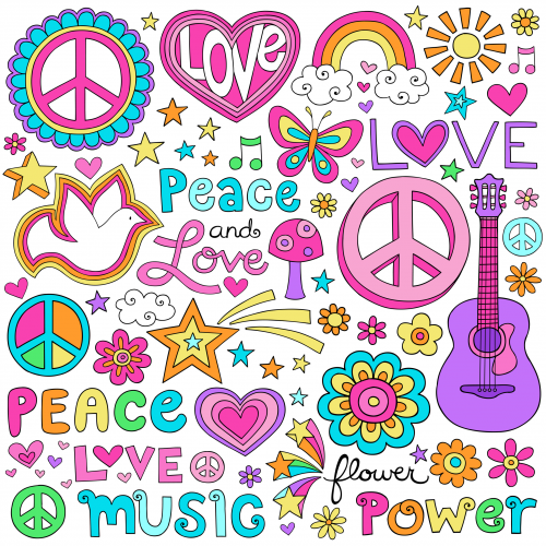 Love And Peace Clipart - Clipart Kid svg library stock