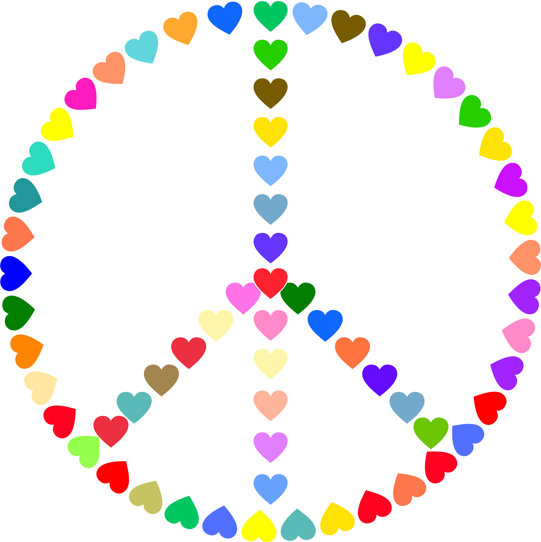Clipart colorful peace sign love - dbclipart.com clipart free library