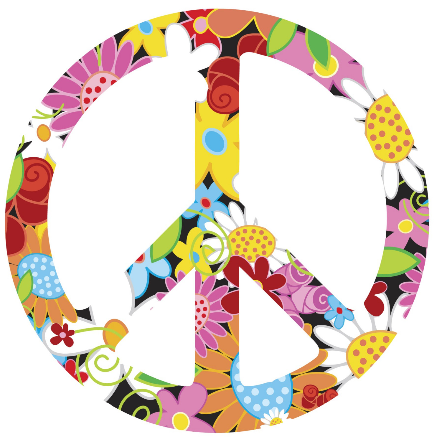 Clipart peace sign love - Clipartix svg transparent library