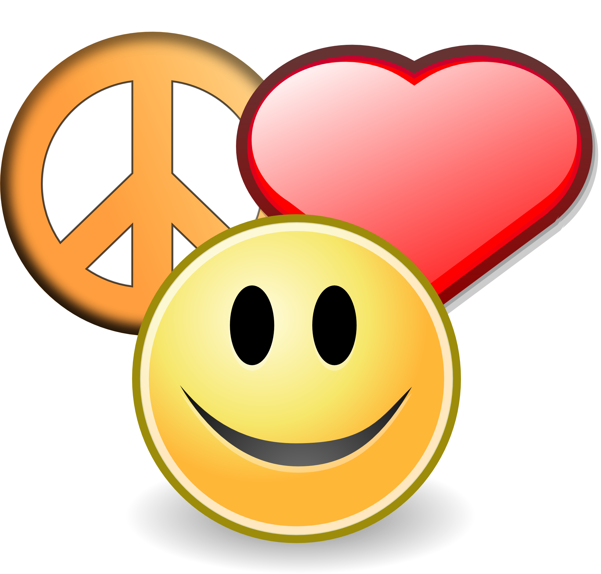 Clipart peace and love - ClipartFest freeuse library