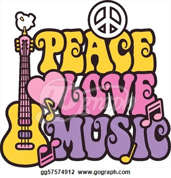 Peace and Love Clip Art – Clipart Free Download jpg black and white