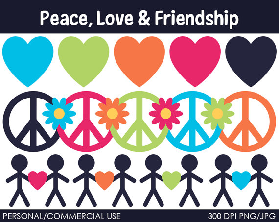 Love And Peace Clipart - Clipart Kid graphic transparent