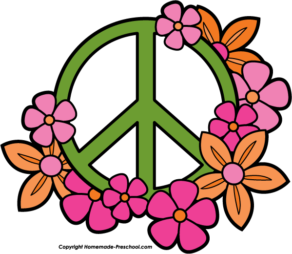 Free Peace Sign Clipart jpg black and white stock
