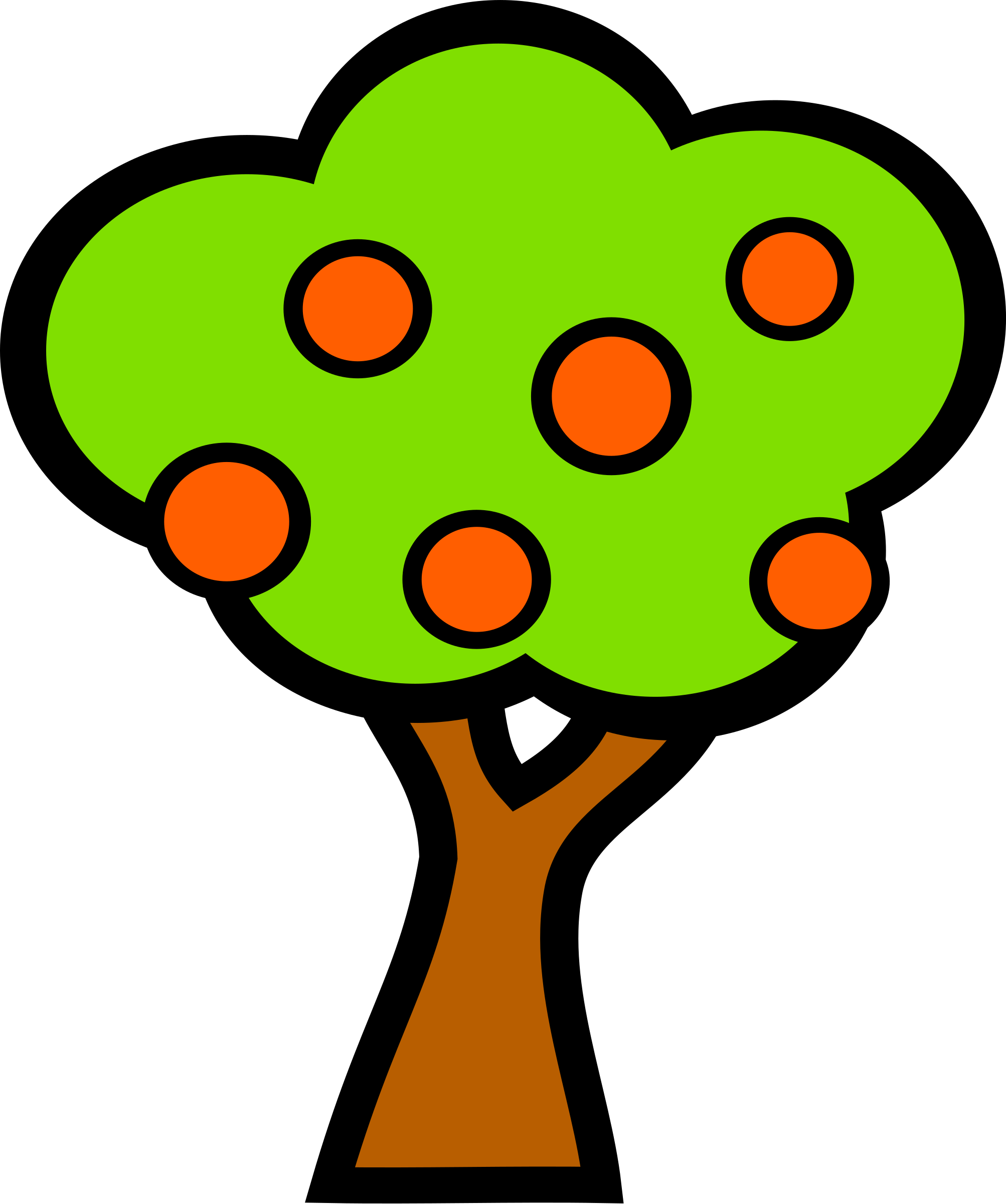 Sad tree clipart svg royalty free stock Clipart - tree with fruits svg royalty free stock