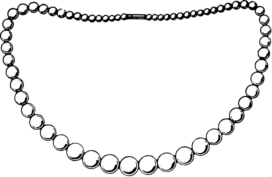 Clipart pearl collection transparent library Black Circle clipart - Necklace, Product, Line, transparent clip art transparent library