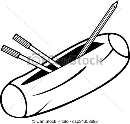 Clipart pencil case. Illustrations and stock art