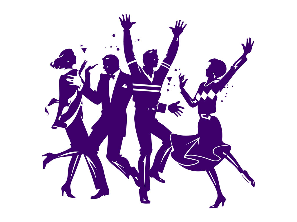 Clipart people dancing clip freeuse library Clip Art People Dancing At Party free image clip freeuse library