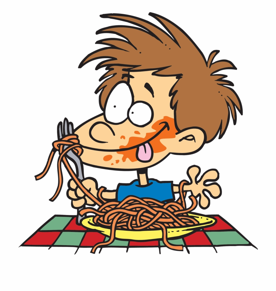 Clipart people eating svg royalty free library Fat People Eating Pizza Cartoon - Eating Spaghetti Clipart Free PNG ... svg royalty free library