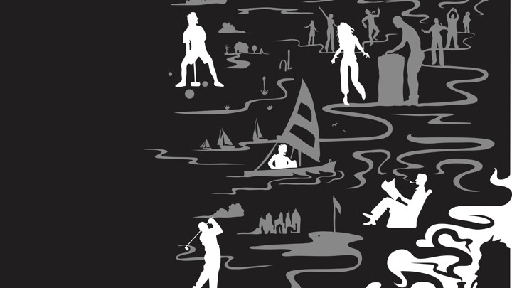 Kids running with fear black and white clipart