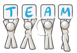 Clipart people holding sign black and white download A Colorful Cartoon of a Group of People Holding Up a Team Sign ... black and white download