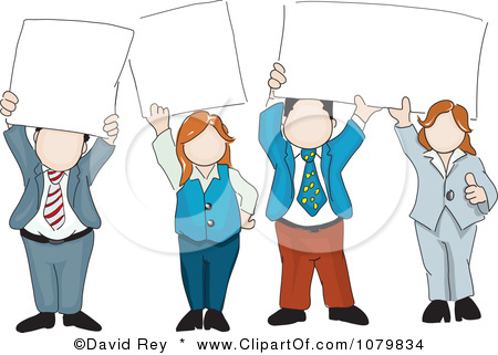 Clipart people holding sign svg black and white stock People Holding Signs Clipart & Free Clip Art Images #21895 ... svg black and white stock