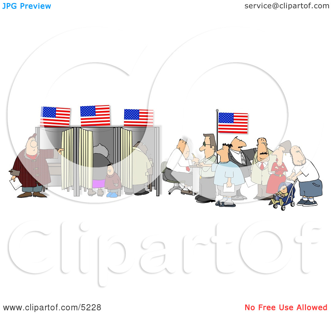 Clipart people of united states. American voting for the