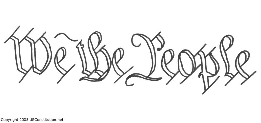Clipart people of united states picture black and white stock The Preamble of Constitution of the United States Clip Art ... picture black and white stock