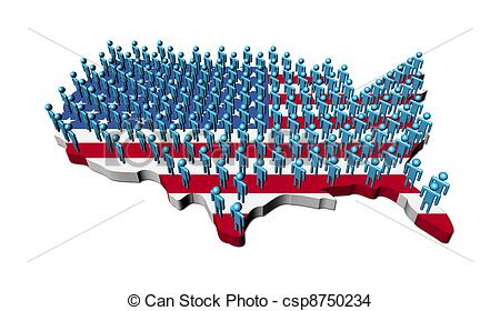 Clipart people of united states. Drawing rows abstract on