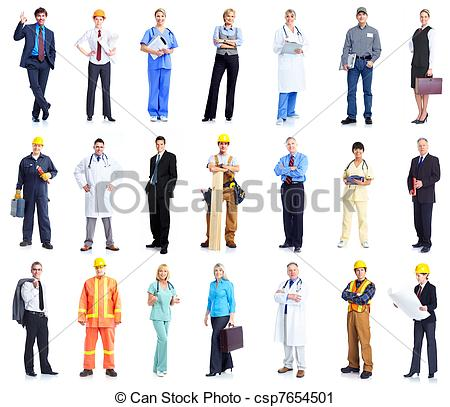 Clipart people of us graphic black and white stock Stock Photography of Set of workers business people. - Set of ... graphic black and white stock